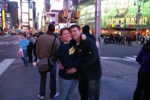 Times Square in New York City in 2008