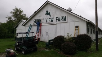 Before view of the Summit View Farm Sign