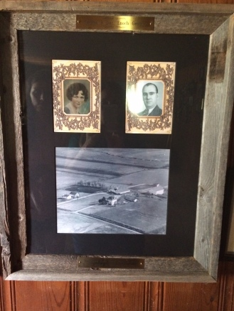 The farm office had an aerial view of the farm before all the additions, and the original owners Serena and Doc Enoch