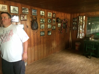 The office held tons of photos of previous horse competitions.