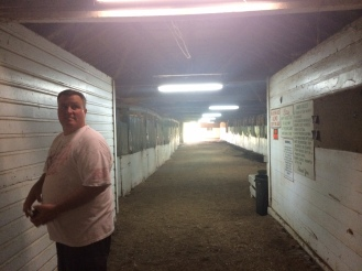 The horse barn has about 40 stalls