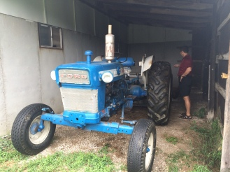 This old Ford tractor still runs. We purchased it with the farm.