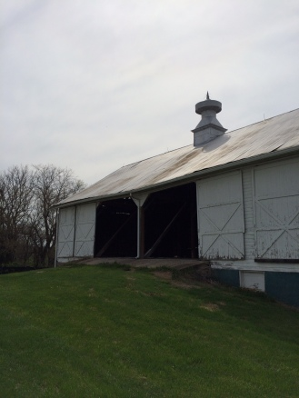 My favorite barn is the hay barn. It's over 100 years old and eligible to be registered with the National History Society.